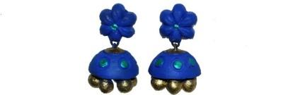 Aanya Creations Jewellery Terracotta Ceramic Jhumki Earring