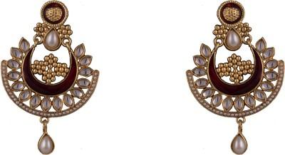 R18Jewels-Fashion&U Kundan Princess_Aishwaraya Metal, Enamel Chandbali Earring