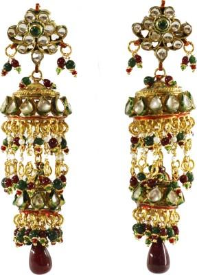 Traditsiya Antique Kundan Alloy Jhumki Earring