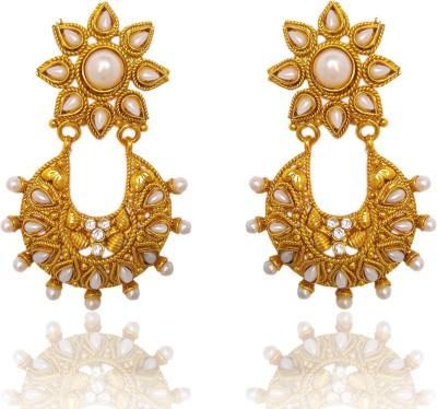 Chandrika Pearls Ramleela Inspired Cubic Zirconia Copper Chandbali Earring
