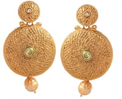 Ark Gold plated Alloy Chandbali Earring