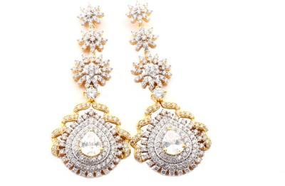 Waama Jewels Bridal Festive Cubic Zirconia Alloy Chandelier Earring