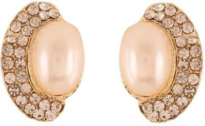 Variation Kundan Diamond Crystal Alloy Stud Earring