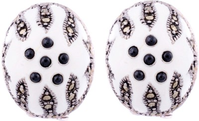 Aashirwad Onyx Silver Stud Earring
