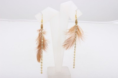 ChicKraft Beading Work Inspired by Nature Stone Tassel Earring