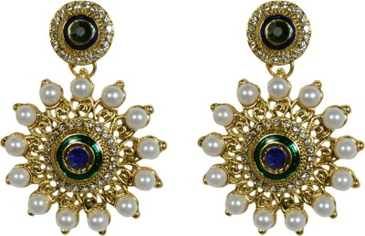 Indowave Traditional dia Alloy Drop Earring