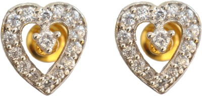 Enzy Exclusive Heart Shaped Tops with 18K Gold Plating Alloy Stud Earring