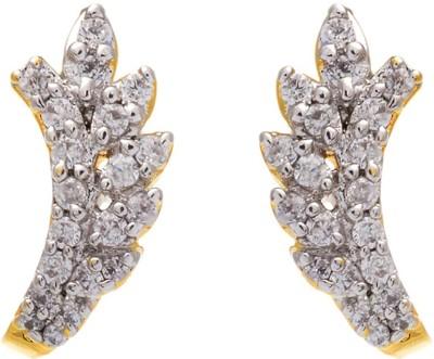 Aaishwarya Dazzling CZ Crystal Brass Stud Earring