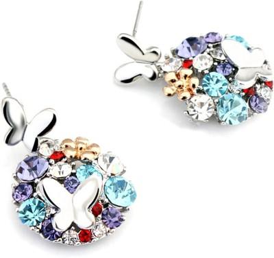 University Trendz Univ_e003 Crystal Alloy Stud Earring