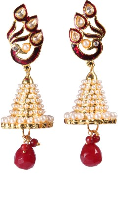 Pink Rose Mayur Passion Copper Jhumki Earring