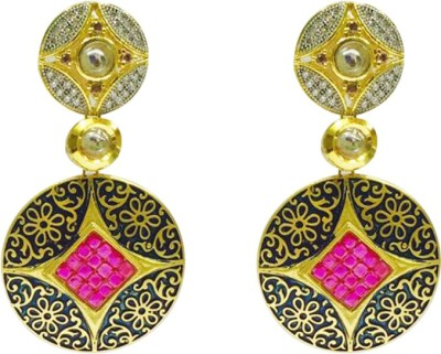 RK Style Contemporary Brass Drop Earring