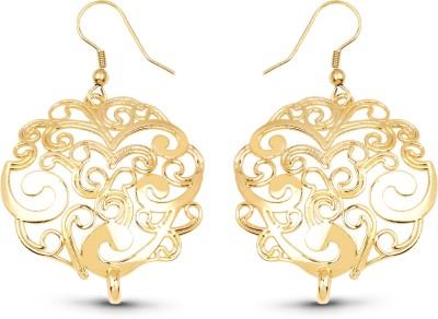 Johareez Gold Plated Brass Beautiful Earrings Brass Dangle Earring