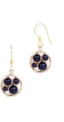 Circuzz Adorable Black round Brass Dangle Earring