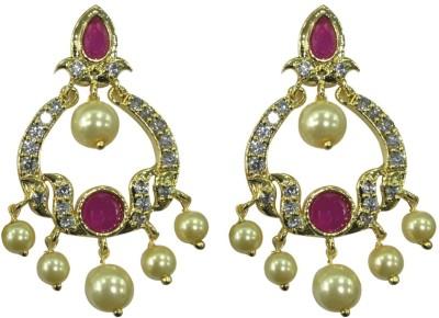 Sri Kapi Pearls FE120 Cubic Zirconia Alloy Chandbali Earring