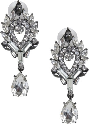 Rubans White Stone Alloy Drop Earring