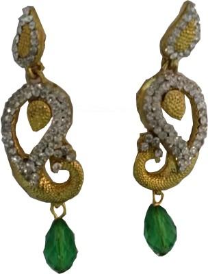 modifier Green Peacock Alloy Drop Earring