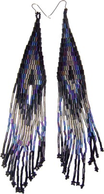 Laron Handicrafts Glass, Metal Tassel Earring