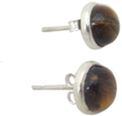 patashi exports tigerstud Tiger Eye Sterling Silver Stud Earring