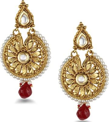 Bridesmaid Crystal Copper Chandbali Earring