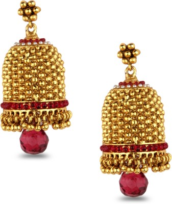 Bridesmaid Crystal, Cubic Zirconia Copper Jhumki Earring