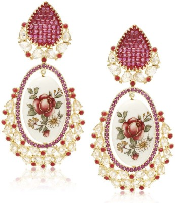 Jewels Galaxy Exclusive Fleur Collection JE-137 Alloy Dangle Earring