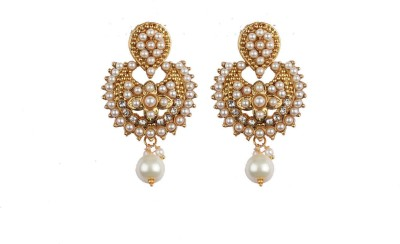 Aashvi Creation Designer Ruby Alloy Dangle Earring