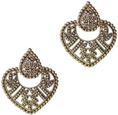 Grand Jewels Mahi8 Emerald Alloy, Brass Chandbali Earring