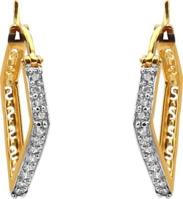 Jewel99 Spring Sparkle Swarovski Zirconia Gold Clip-on Earring
