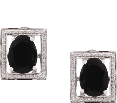 RR FOREVER Gemstone Onyx Silver Stud Earring