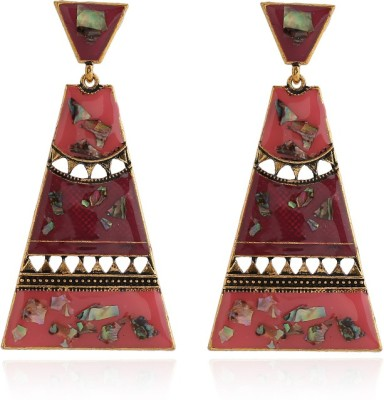 Insia Turkish Blush Alloy Chandelier Earring
