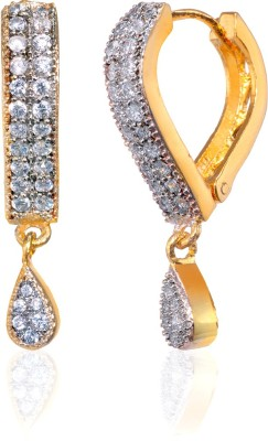 Fashion Fusion ES010005A Aanisah Cubic Zirconia Brass, Alloy Drop Earring