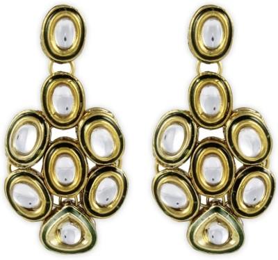 Karatcart Broody Kundan Brass, Alloy Dangle Earring