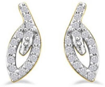 Sparkles Love Forever Yellow Gold 18kt Diamond Stud Earring
