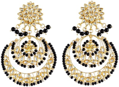 NEnterprises Golden Boonde Metal Chandbali Earring