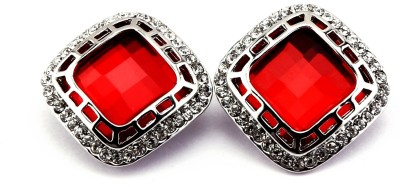 Trendy Nuts Red Spanish scintillating EMERALD Alloy Stud Earring