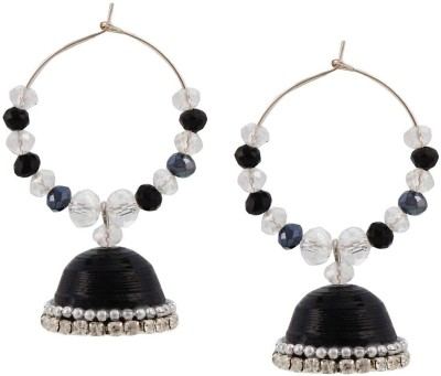 Halowishes Fancy Black Hancrafted Artificial Baali Jhumka Paper Clip-on Earring