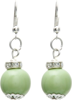 Galz4ever Glass Bead Designer Alloy Dangle Earring