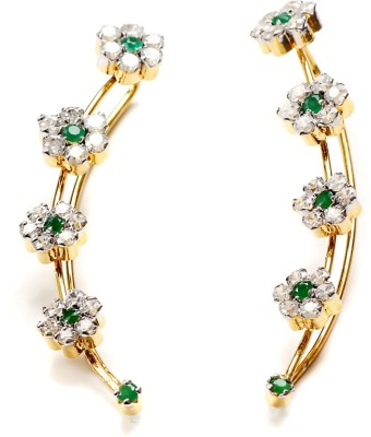 99HomeMart Floral Design Cubic Zirconia Alloy Cuff Earring