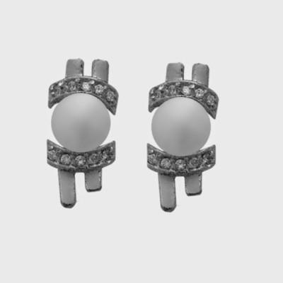 Nisa Pearls Pearl Alloy Stud Earring