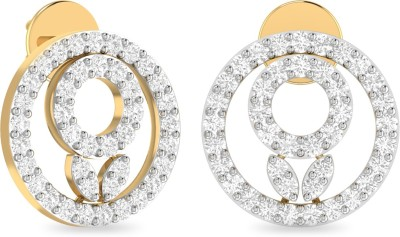 WearYourShine by PC Jewellers PC Jeweller The Arshnaa Yellow Gold 18kt Diamond Stud Earring at flipkart