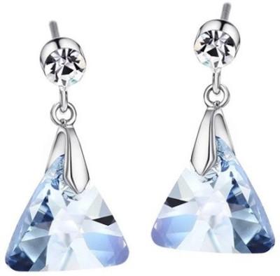 Wearyourfashion Swarovski Elements Blue Crystal Alloy Drop Earring