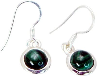 Riyo Indian Malachite Agate Sterling Silver Dangle Earring
