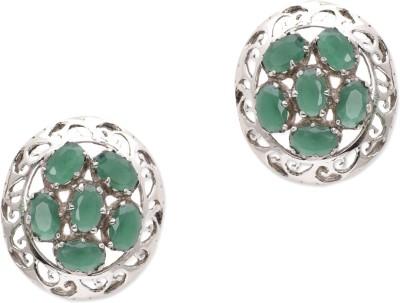 Watch Me Dizzy Daisy Green Studs Emerald Sterling Silver Stud Earring