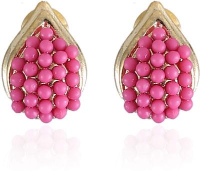 Vastradi Jewels Brilliant Brass, Alloy Stud Earring