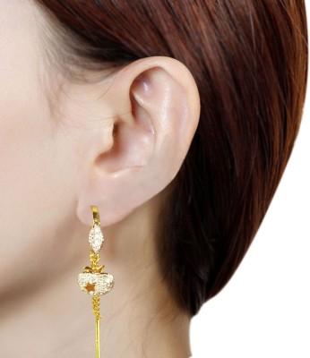 Prisha PPIPLCZER61 Zircon Copper Dangle Earring