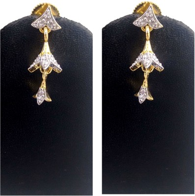 Hotpiper Royal AD Zircon, Diamond Alloy Jhumki Earring