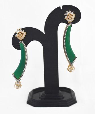 Royal Lady Elegant Brass Drop Earring