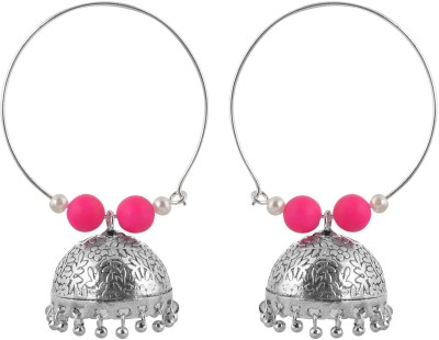Rajasthani Traditions Bridal Collection Pearl Brass Jhumki Earring