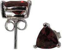 Pearlz Ocean 1.80 CTS, 6mm Trillion Shape Genuine Garnet .925 Silver Stud Earring