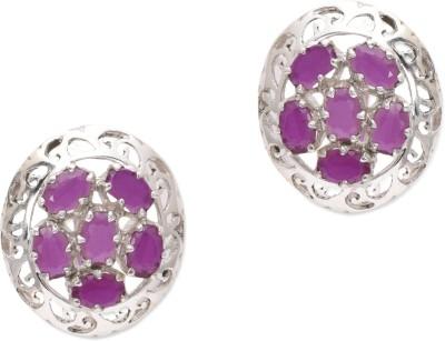Watch Me Dizzy Daisy Purple Studs Ruby Sterling Silver Stud Earring
